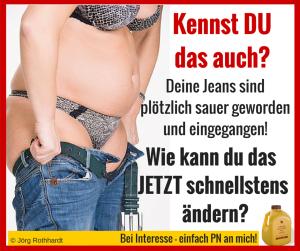 Kennst Du das auch- Deine Jeans sind plötzlich sauer geworden und eingegangen! Wie kannst Du das jetzt schnellstens ändern